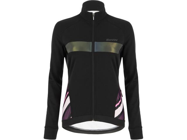 Santini Coral Raggio Winter Jacket Women, black